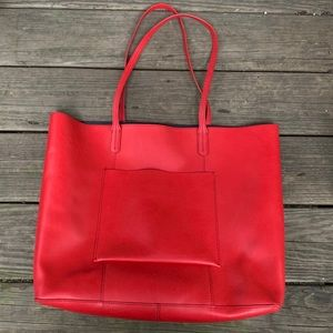 Margot RED Spanish Leather Tote!! So Stunning ❤️❤️